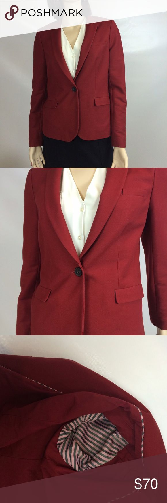 SIZE 6 (UK 10) JACK WILLS NEVER WORN RED BLAZER RED blazer. Perfect for a cute business casual look, can easily wear with a nice button-down/blouse, or skirt/pants. From JACK WILLS. NEVER WORN. NO MARKS, STAINS, OR RIPS. Size 6 (UK 10). Has THREE extra buttons. Willing to negotiate prices 💰💰💰 SMOKE FREE HOME ❤️ Jack Wills Jackets & Coats Blazers
