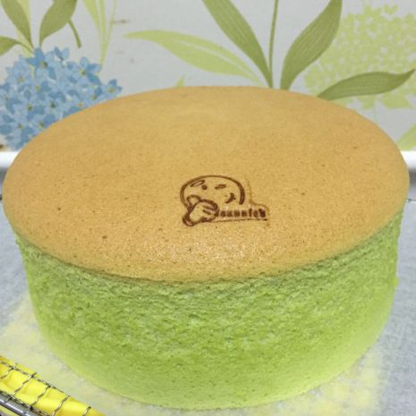 Pandan Chiffon (cooked dough)