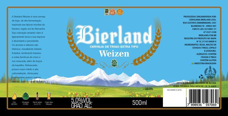 Desenvolvimento do rótulo da cerveja Weizen da cervejaria Bierland.  Agência: Ferver