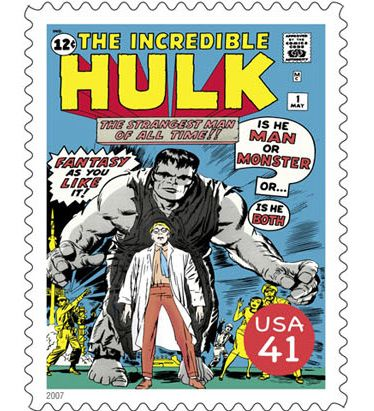 US Stamp - Marvel Comics Superheroes The Incredible Hulk