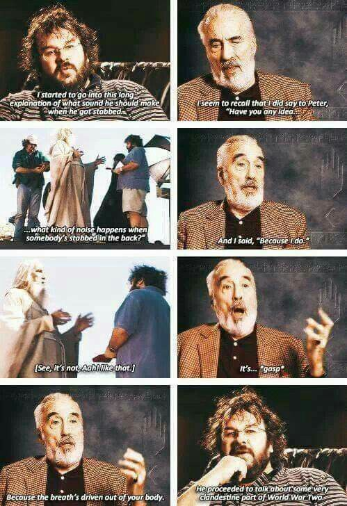 The Lord of the Rings behind the scenes BTS - Peter Jackson and Sir Christopher Lee ♡