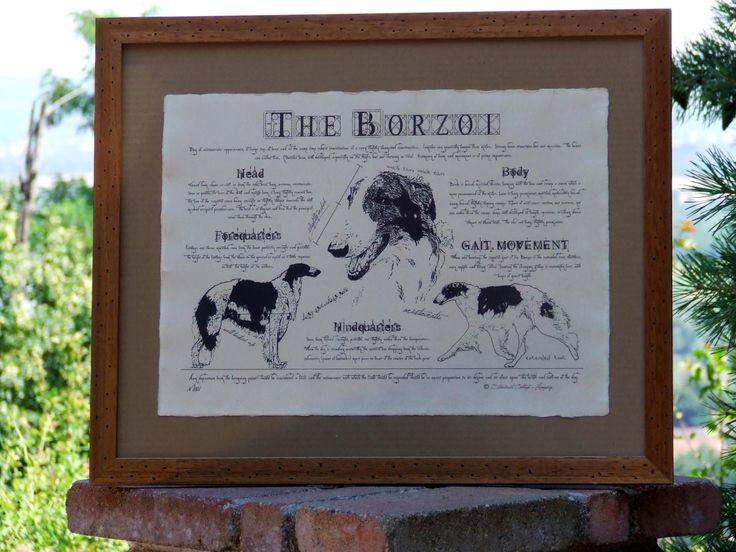 Antique styled dog standard - Borzoi by Creativedoglover on Etsy