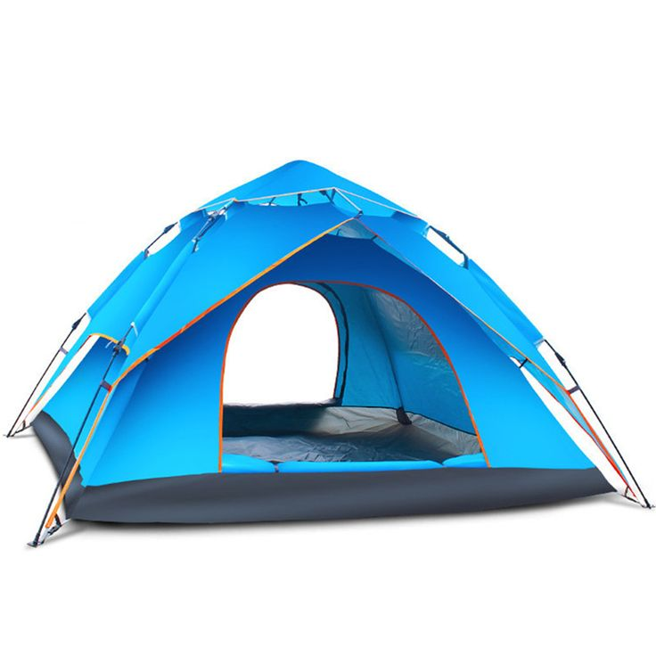 3-4 person quick automatic opening double layers multi usage one bedroom fiberglass 210T PU  outdoor camping four season tent
