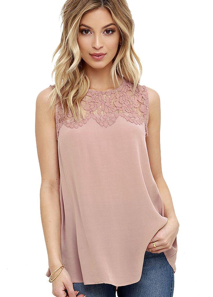 Patchwork Bloemen Kant Vrouwen Casual Top Mouwloze Elegante Kantoor Werk Blouse Lady Zomer 2016 Shirt Hoge Kwaliteit Blouse