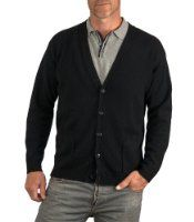 Wool Overs Men's Lambswool V Neck Cardigan  Price:	$38.00 + $6.95 shipping Features 100% soft Lambswool Garment Height (Body length - Inches) XS-25 S-26 M-27 L-28 XL-30 Garment Width (Across the Chest - Inches) XS-19 S-21 M-23 L-25 XL-27 Machine Washable (wool programme)