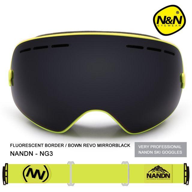 Nandn Marca Sport UV400 Gafas De Esquí Gafas Anti-Vaho Gafas De Esquí Profesional Puntos Máscara de Esquí Snowboard Hombres Mujeres Nieve Goggle
