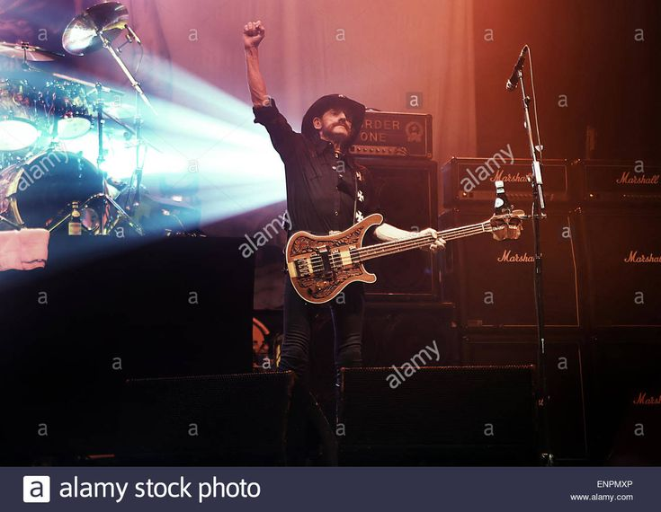 Motorhead performing live on stage at the Manchester O2 Apollo  Featuring: Lemmy,Motorhead Where: Manchester, United Kingdom When: 04 Nov 2014 Stock Photo