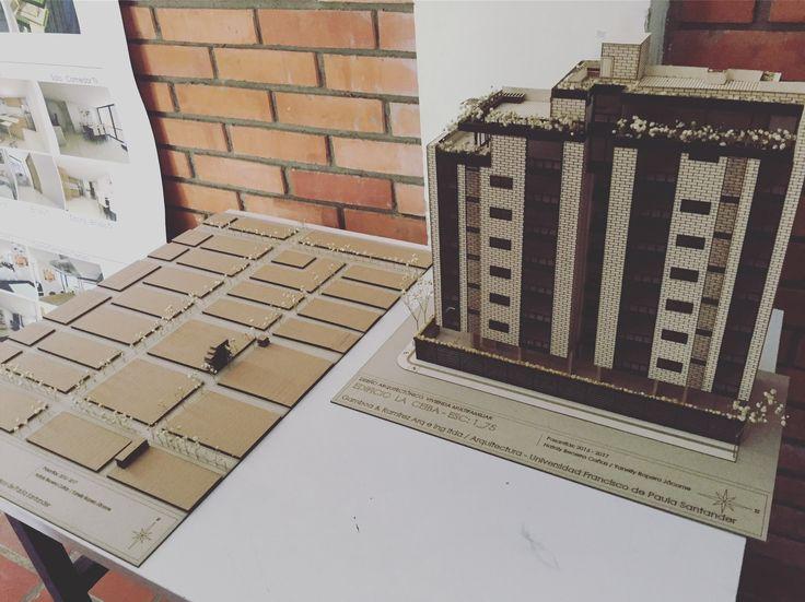 """Maqueta Entrega """"Diseño arquitectónico de vivienda multifamiliar en el barrio la ceiba, Cùcuta"""" en Convenio la constructora Gamboa&Ramirez Arq e Ing Ltda y UFPS Cùcuta  Con Yanelly R-J"""