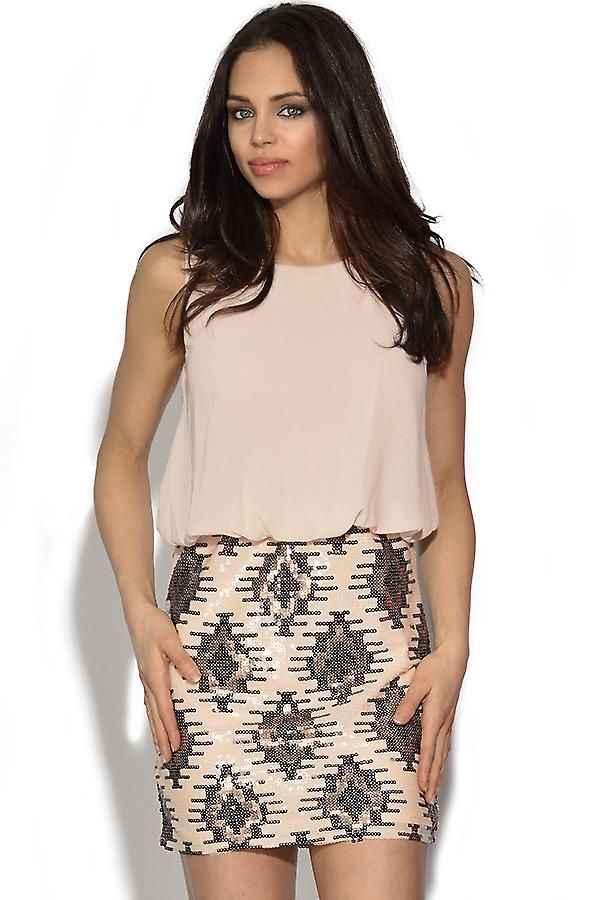 Aztec sequin skirt