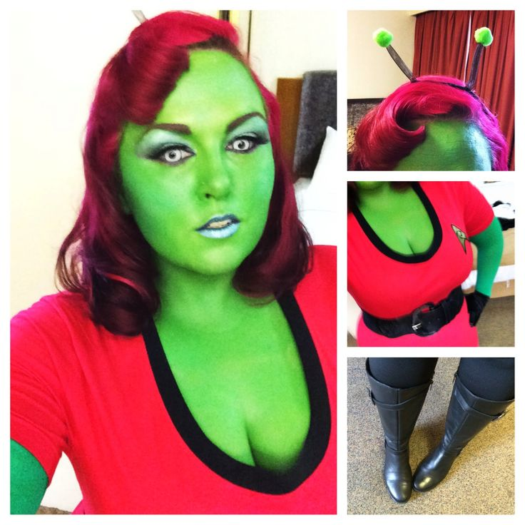 My Alien Girl Costume - Quirky and Curvy Cosplay - A little on the green side.  sc 1 st  Pinterest & The 140 best Fun space images on Pinterest | Alien halloween ...