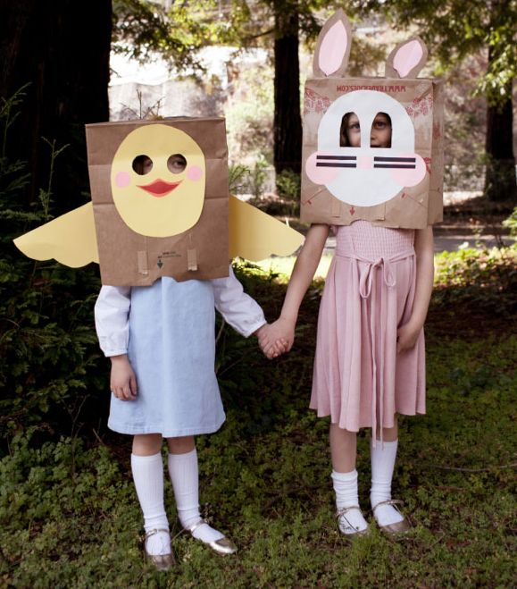 9 cool Easter crafts for kids, like these DIY Easter masks at O Happy Day