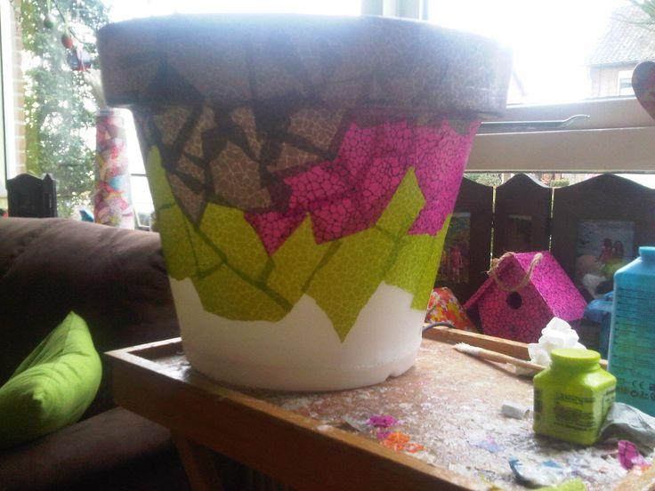 Bloemenbak met lamp