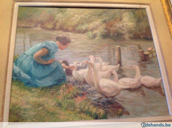 Schilderij L. Hoste