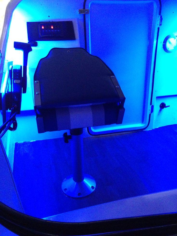 Ice blue LED's cockpit