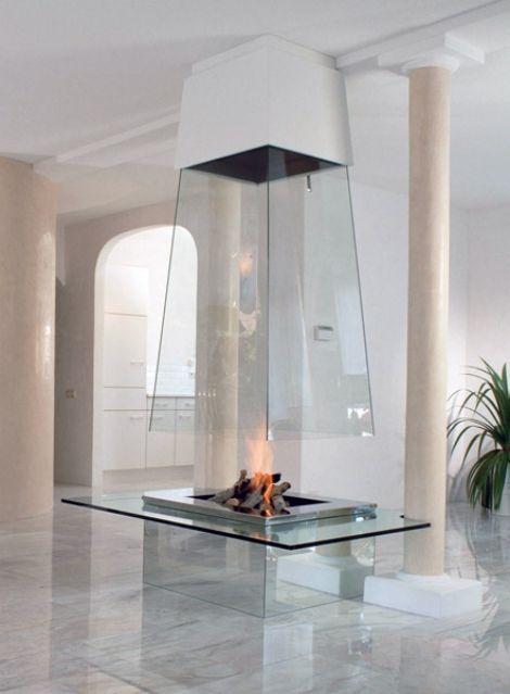 Glas Kamin-Bloch Wohnzimmer