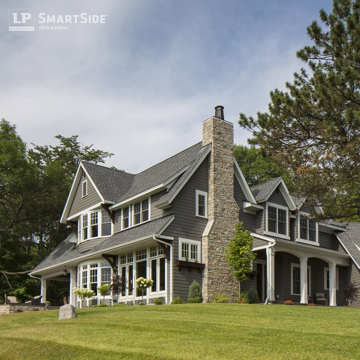 lp smartside lap siding on an elegant country style home built by swanson homes exterior