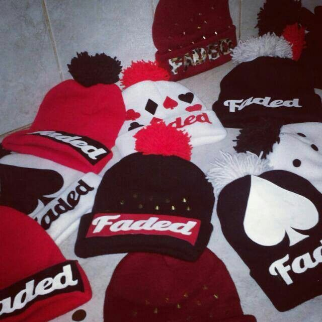 Faded beanies+