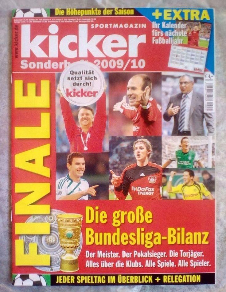 "Kicker!Sportmagazin!Die Bundesliga Bilanz! "" Sonderheft  2009/10 "" ! NEU !"