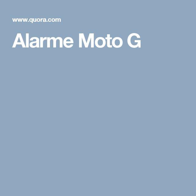 Alarme Moto G