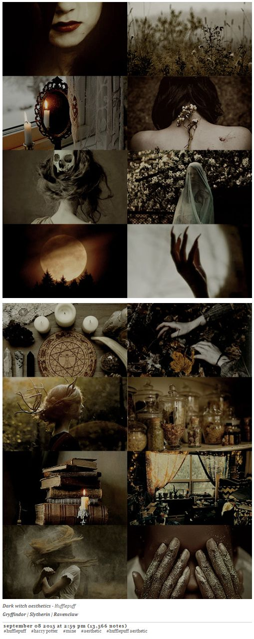 pvffskein: Dark witch aesthetics - Hufflepuff