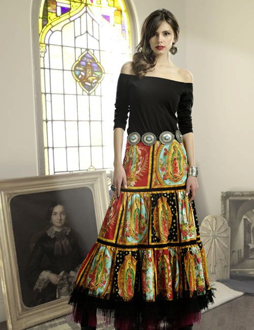 Virgin of Guadalupe Skirt with Sophia Tee
