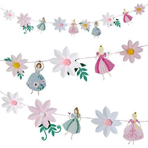 Meri Meri Prinzessin Girlande - tolle Dekoration für die Prinzessinnenparty oder Kinderzimmer! Bonuspunkte sammeln, Kauf auf Rechnung, DHL Blitzlieferung!