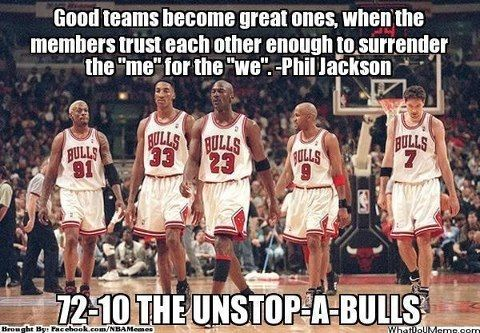 The best team in NBA history, not the 2015-16 Golden State Warriors. We even won the championship that year. Oops..