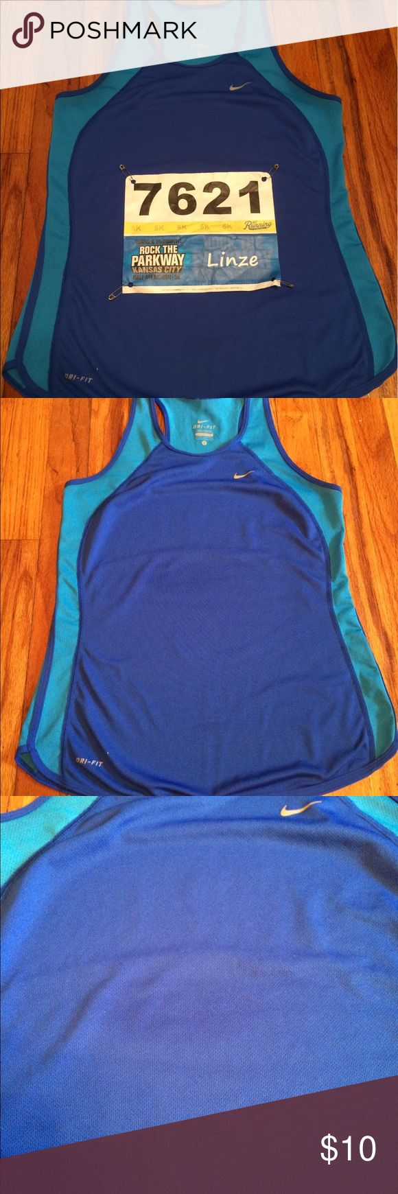 🆕 Listing Nike dri fit tank top Nike dri fit razor back tank top, size small. Small stain on front, I wore this top running road races so I just always covered it up with my bib number. Its a detergent stain 🙈Awesome top, just doesn't fit me anymore. Smoke free home, sold as is. 🌸I accept offers, so please offer below🌸 🚫TRADES🚫 Nike Tops Tank Tops