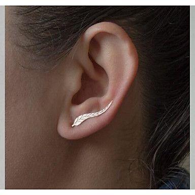 European Leaf Alloy Earring Ear Cuffs Daily / Casual 1 pair 2016 - $2.99