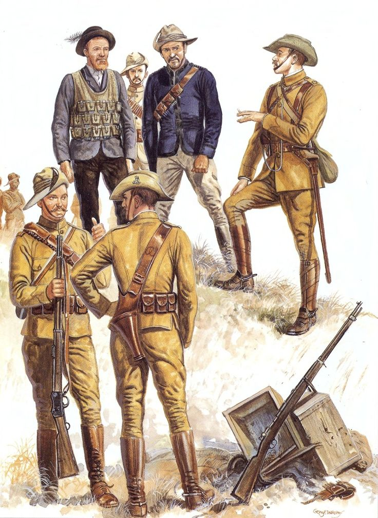 Boer War Uniforms | Staatsartillerie, the Transvaal Police fought in a mixture of uniforms ...