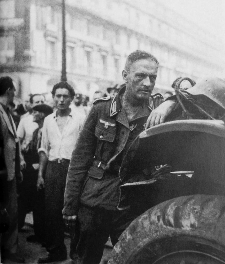 German NCO who has just surrendered in Paris, August 1944.