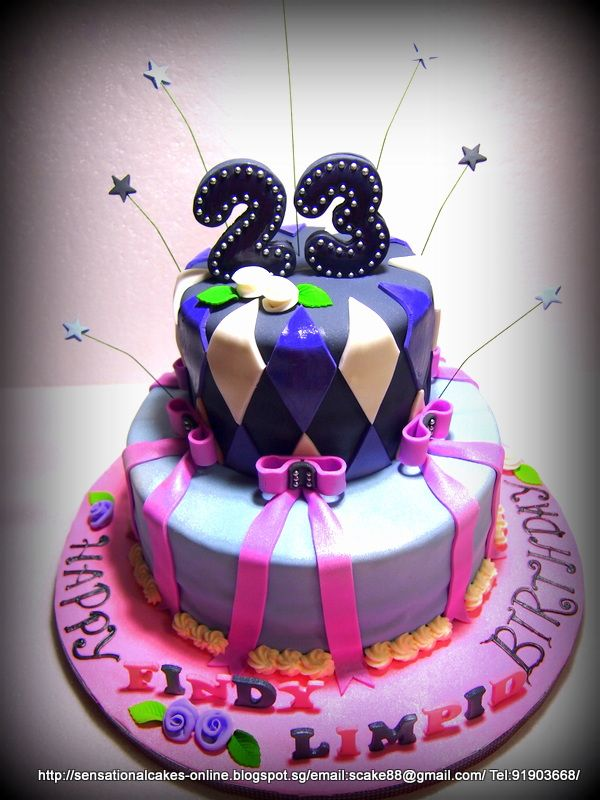gallery for  u0026gt  23rd birthday cake ideas for her