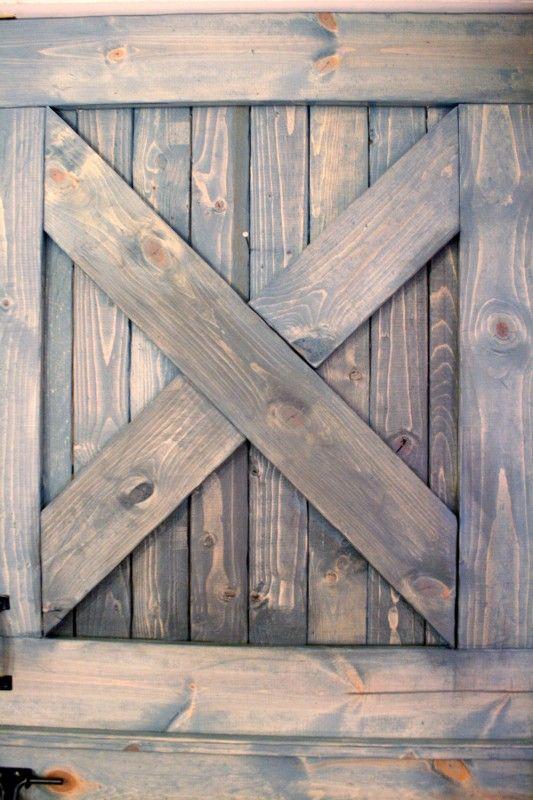 color washing paint technique, wood grain still shows, barn door