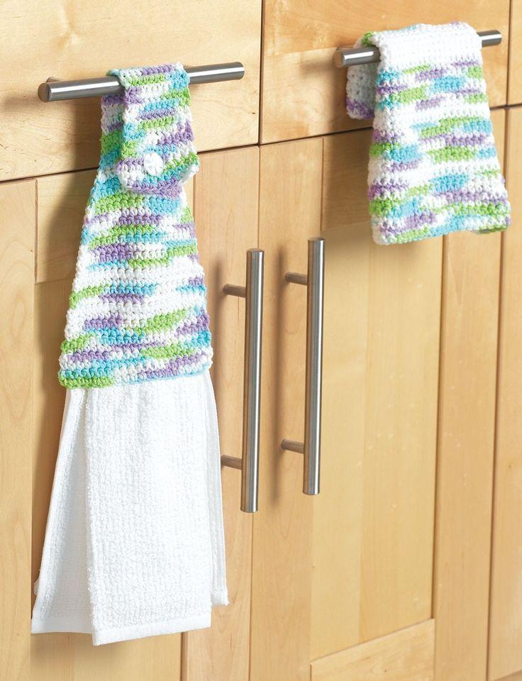 Yarnspirations.com - Bernat Towel Topper & Dishcloth - Patterns Yarnspi...