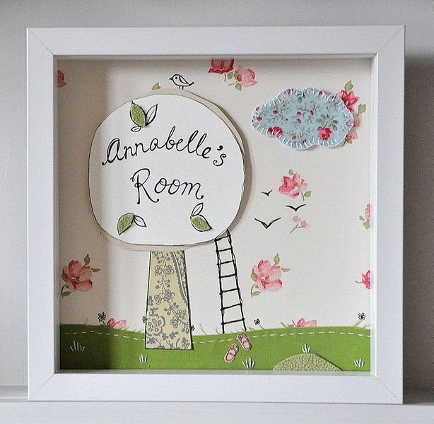 Free Shipping - Kids Personalised Wall Art from Peppercorns in my Pocket by DaWanda.com