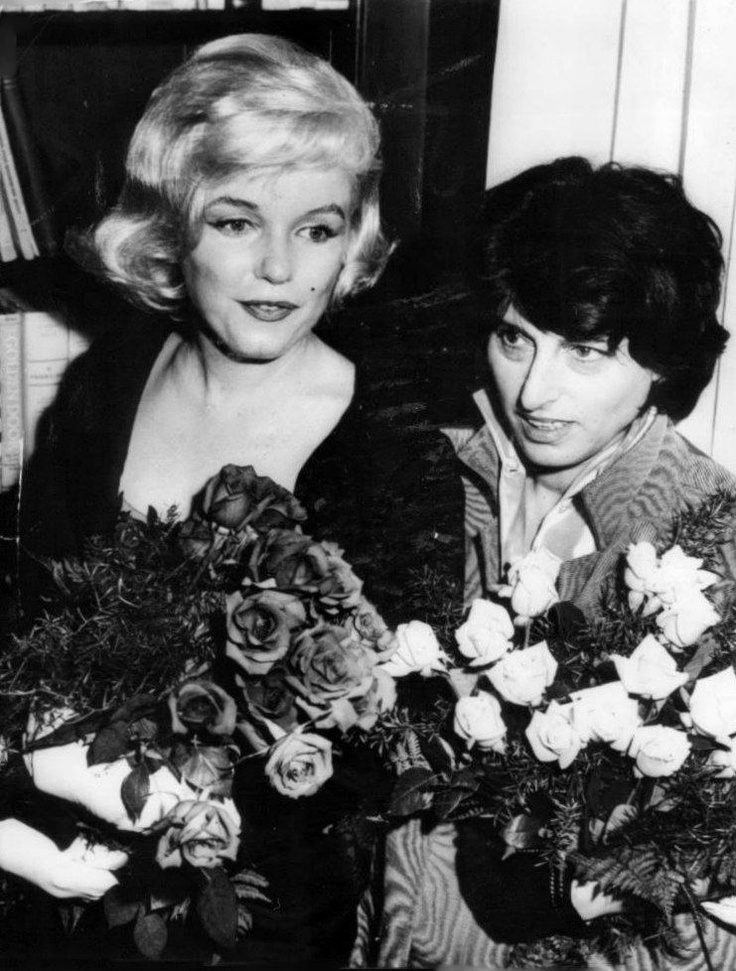 Marilyn Monroe with italian actress Anna Magnani
