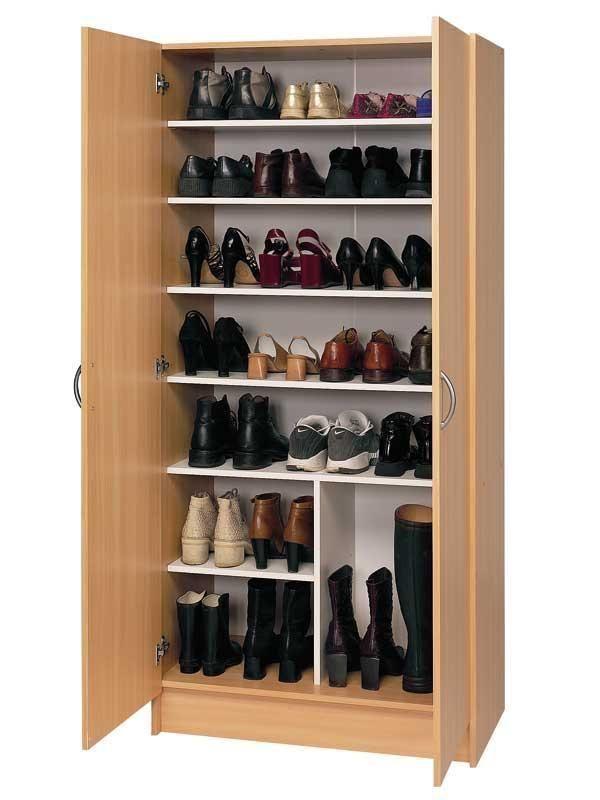 Las 25 mejores ideas sobre muebles para zapatos en for Cajas para guardar ropa armario