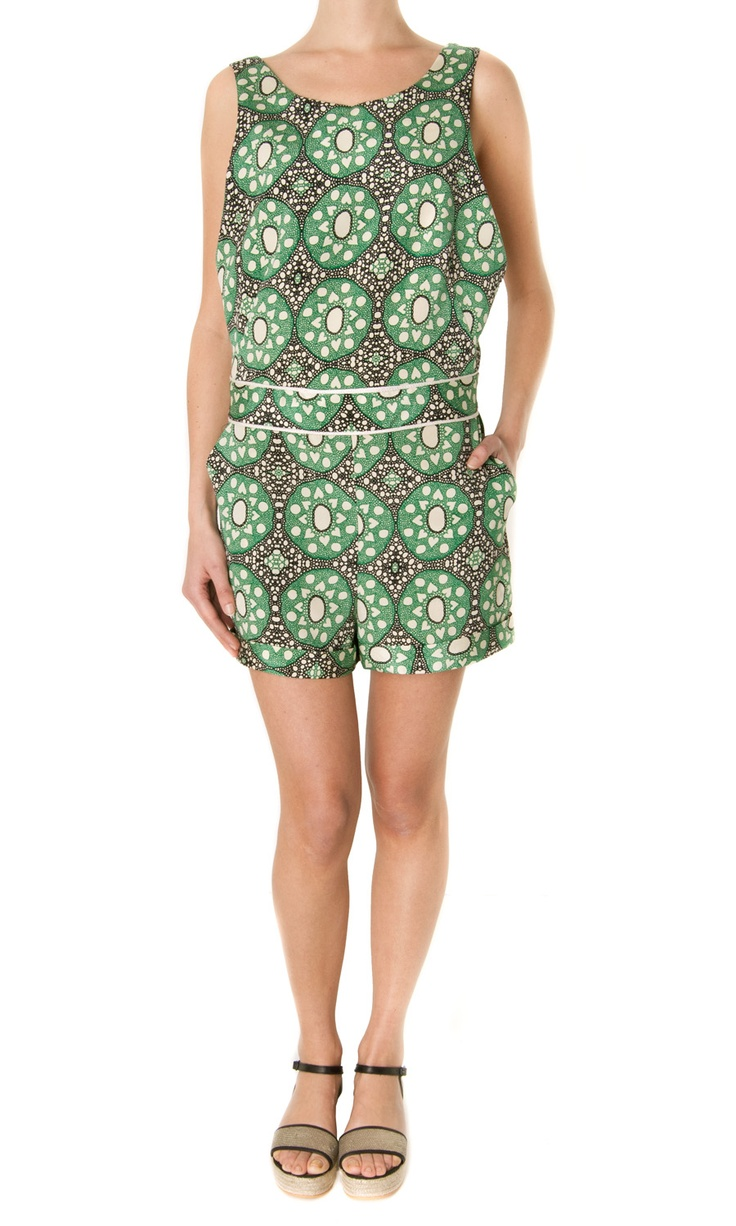 Sea NY Batik-Lace Silk Jumpsuit - #womenswear