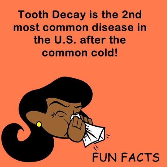 Tooth Decay is the 2nd most common disease in the U.S. after the common cold. http://blog.dmsmiles.com/dental-exam-reveals-lot-overall-health/