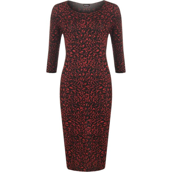 Alia Lurex Midi Dress ($45) ❤ liked on Polyvore featuring dresses, plus size, red, plus size cocktail dresses, midi dress, knee length cocktail dresses, knee-length dresses and women plus size dresses