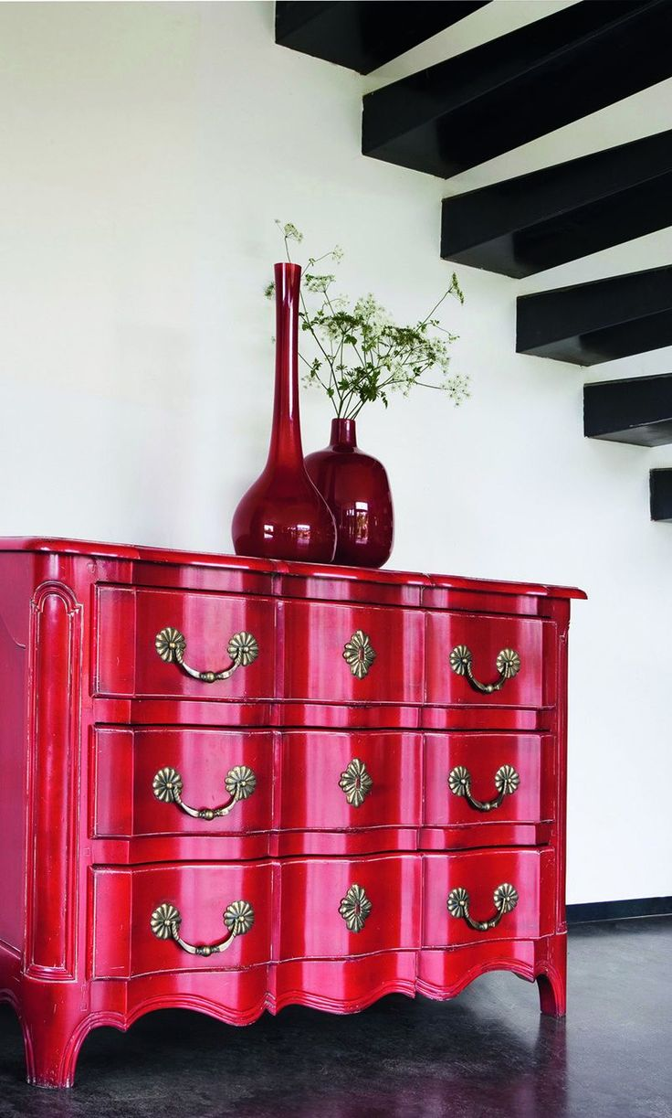 Choose A Piece Of Furniture In Your House And Paint It That Color That  Speaks To You, Like This Glossy Red.