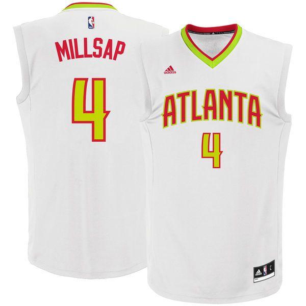 Paul Millsap Atlanta Hawks adidas Home Replica Jersey - White - $69.99