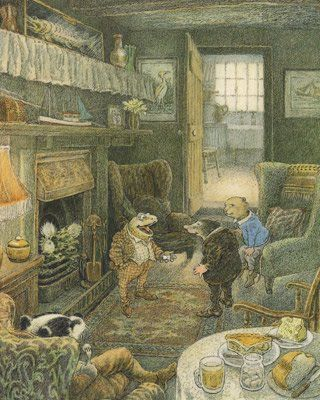 The Wind in the Willows, by Kenneth Grahame, adapted and illustrated by Inga Moore, 181 pp, RL 4