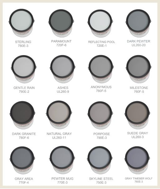Perfect Shades Of Gray For The Home Pinterest Paint Colors Grey And