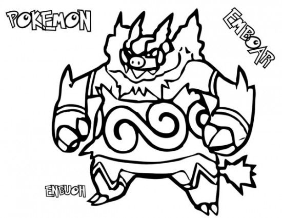 Pokemon Emboar Coloring Pages