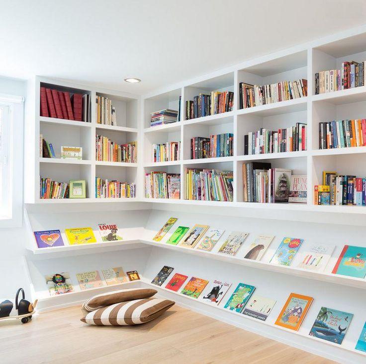 Книжные полки в современной детской спальне лучший вариант приучить детей любить книги