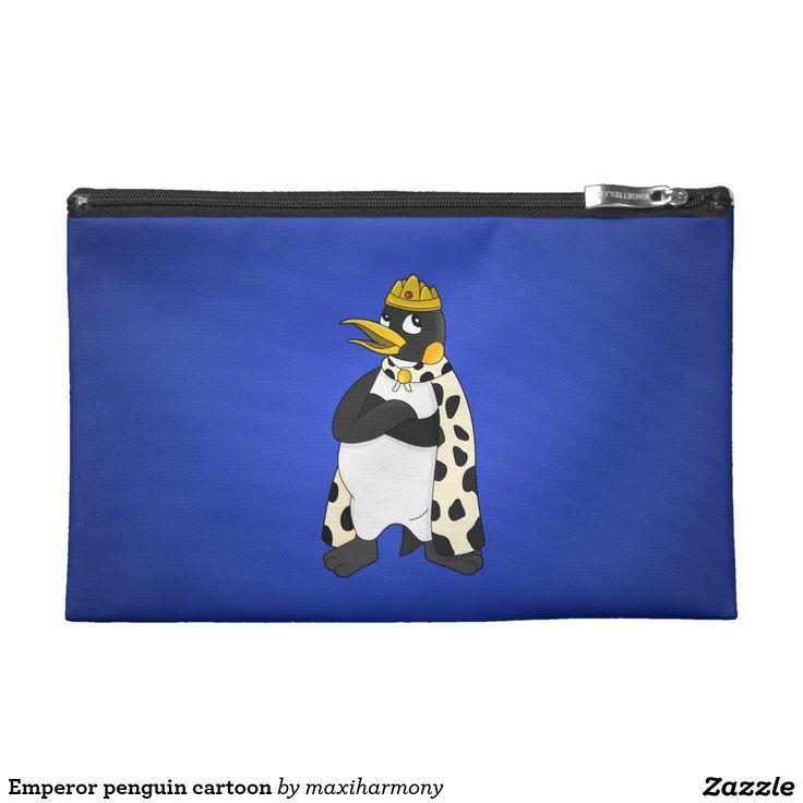Emperor penguin cartoon travel accessories bags