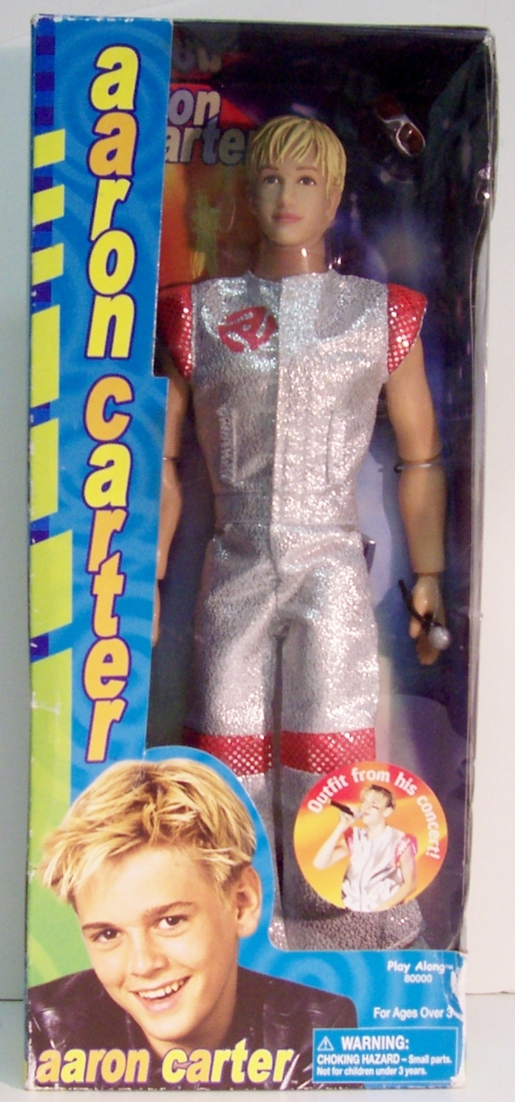 """Aaron Carter 12"""" Doll by Play Along, 2001"""