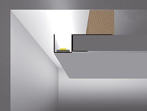 led profil f r gipskarton u version 2m rehgips trockenbau. Black Bedroom Furniture Sets. Home Design Ideas