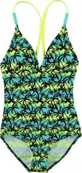 Leuk meisjes badpak met palmboom print van Boob Bloomers